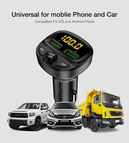 FM трансмитер+Bluetooth и зарядно за кола за мобилни устройства