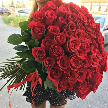 Букет Роз! Розовые! Красные! Белые! Жёлтые! Доставка Цветов 09