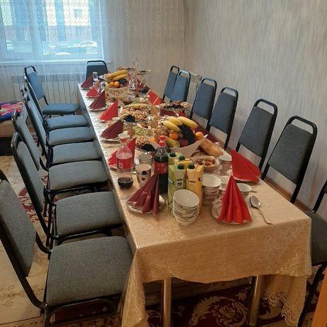 Стол (прямоугольный, круглый), стул, посуда в аренду или на прок