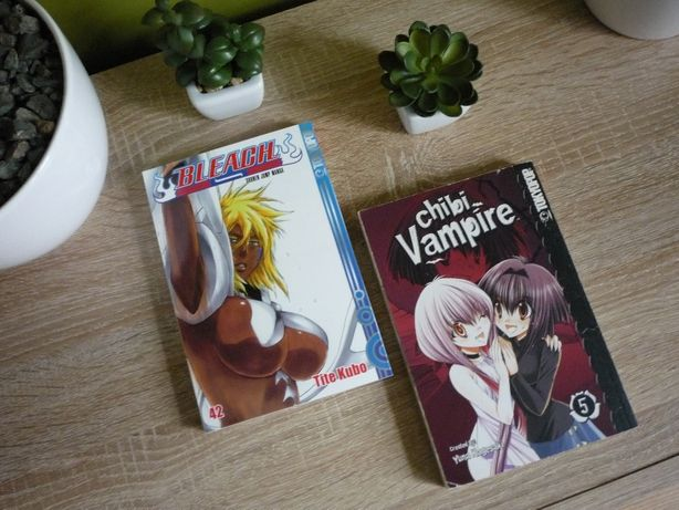 Manga Chibi Vampire (VOL.5, Germana) si Bleach (VOL.42, Germana)