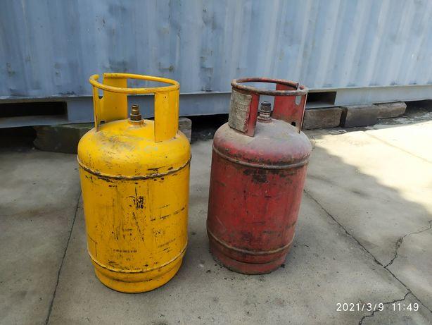Газовый баллон желтый