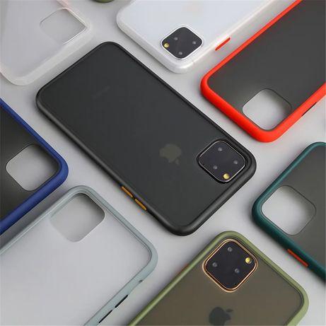 Iphone 11 12 MINI PRO MAX Husa Hybrid Rama Silicon Spate Fumuriu