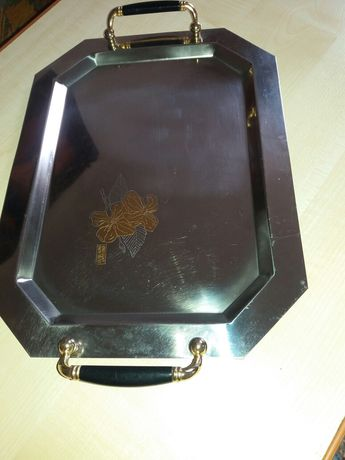 Tava inox placat cu aur 24 KT