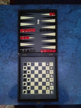 Магнитен шах и табла - туристически