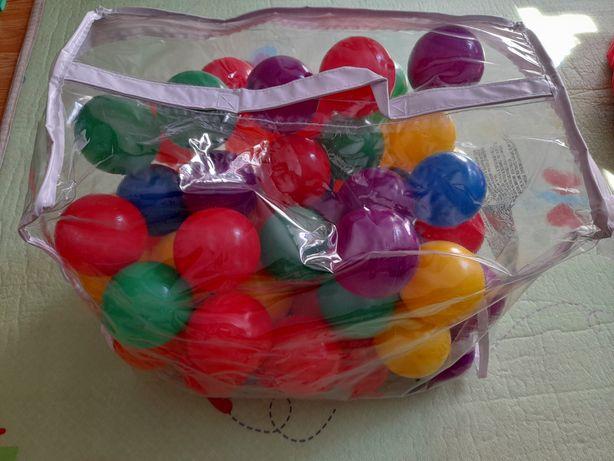 Bile plastic multicolore