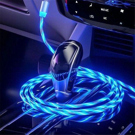 Cablu Incarcare Luminos Magnetic microUSB,Lightning,Type-C