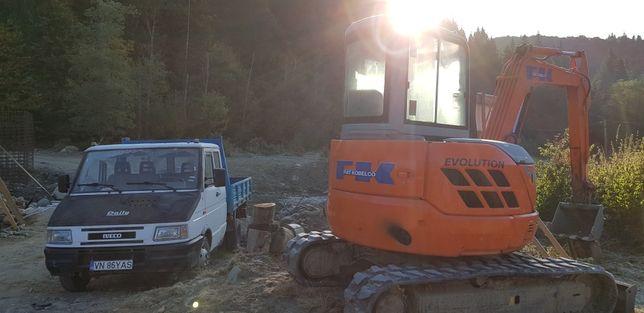Inchiriez  utilaje. excavator  buldoexcavator camioane camionete