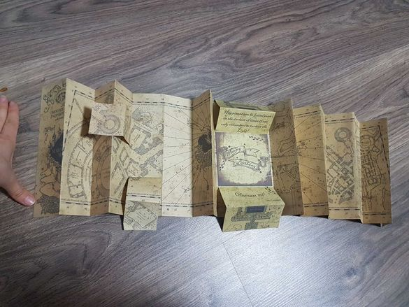 Harry Potter Marauders map /birthday card ; Хари Потър картичка