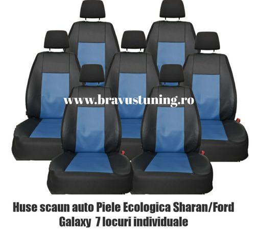 Husa auto dedicata Sharan & Touran 7 locuri individuale piele ecologic