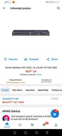 Netgear Switch 16 x RJ45