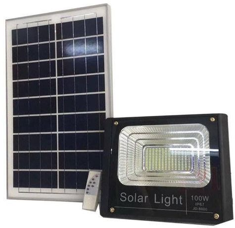 Proiector LED cu panou solar MARE BONUS: telecomanda