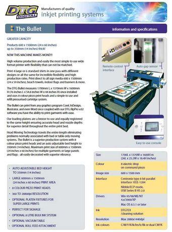 Текстилен Принтер Epson 7880 DTG Bullet