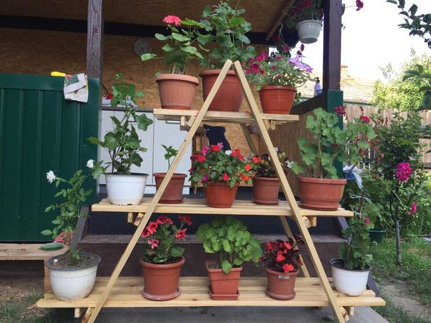 Suport flori lemn