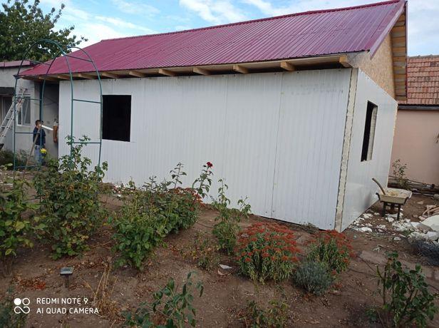 Vând casă pe structură metalică 6x5