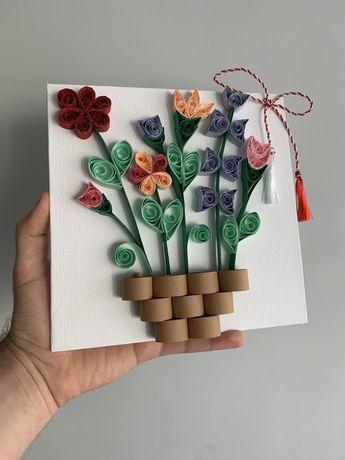 Tablouri florale realizate manual !