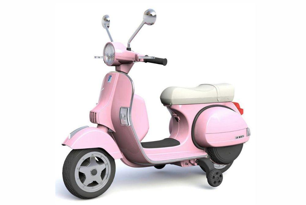 Scuter electric pentru copii Piaggio PX150 PREMIUM #Roz