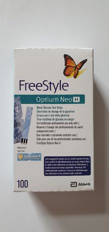 100 бр. Тест ленти за кръвна захар Freestyle Optium годност 28/02/2021