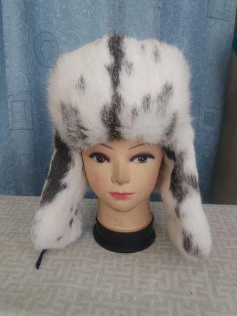 меховая шапка из кролика детская