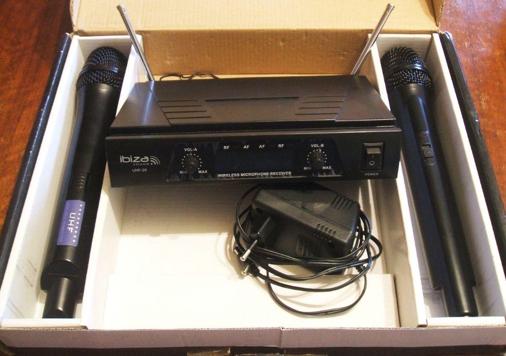 Set 2 microafoane wi-fi cu reciver