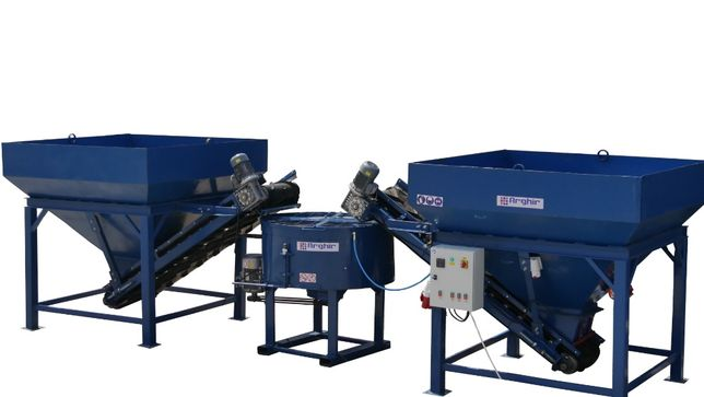 Ministatie semiautomata pentru preparat beton – Statie beton