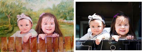 Портрети от снимка с маслени бои