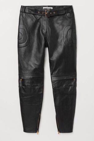 Pantaloni piele Moschino HM, mărimi 40, 42, pantaloni H&Moschino