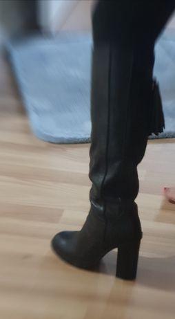 Кожени ботуши Zara 39