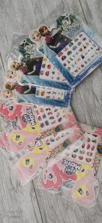 Стикери за нокти Елза и Анна или Мойте малки понита