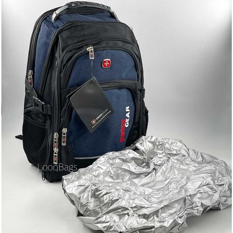 Рюкзак швейцарский с usb c дождевик SwissGear (6091)