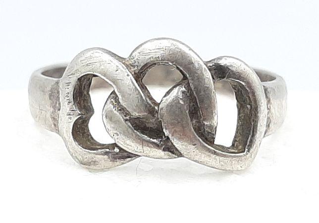 Frumos inel vechi din argint 925 ,manufacturat !