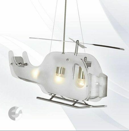Corp de iluminat/lustra elicopter pt camera copiilor cu becuri incluse