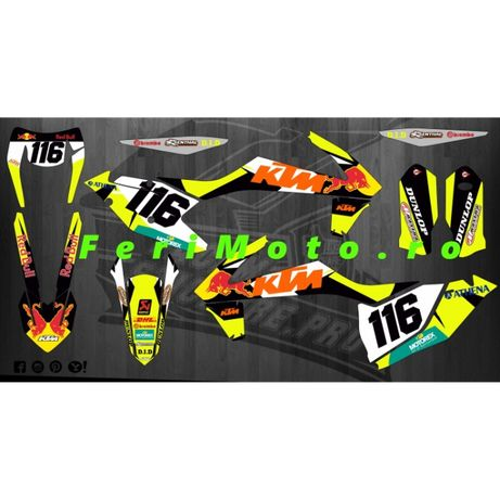 Kit complet Stickere autocolante enduro moto ATV- pt orice model si an