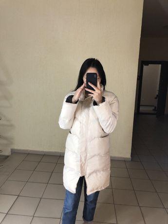 Зимняя белая куртка и парка