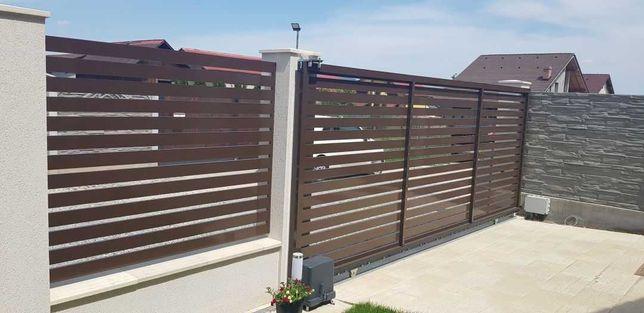 Garduri si porti tip jaluzele, fier forjat, sipca metalica, BCA, plasa