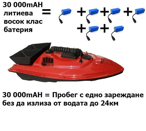 Нова лодка за захранка тип Flytec +гаранция + до 20 800mAh батерия