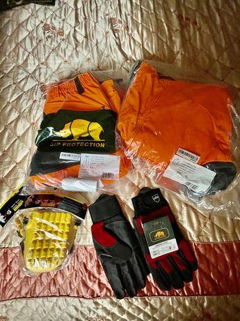 Costum protectie drujba, motofierastrau, antitaiere