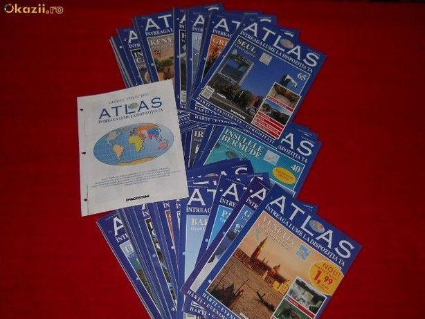 Vand colectie reviste ATLAS-Intreaga lume la dispozitia ta,61 nr.,NOI.