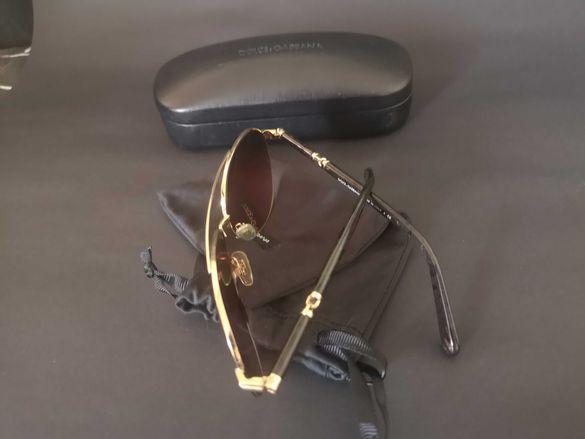 Очила D&G aviator gold