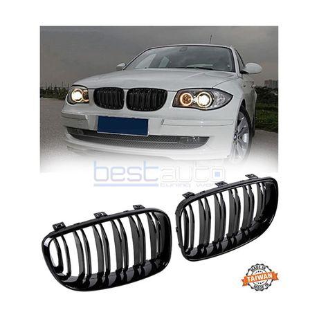 Бъбреци за BMW E87 / E81 / E82 / E88 (2007-2013) Черен Гланц Двойни