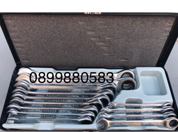 Комплект тресчотни ключове 8-22мм 13бр в комплект RockForce