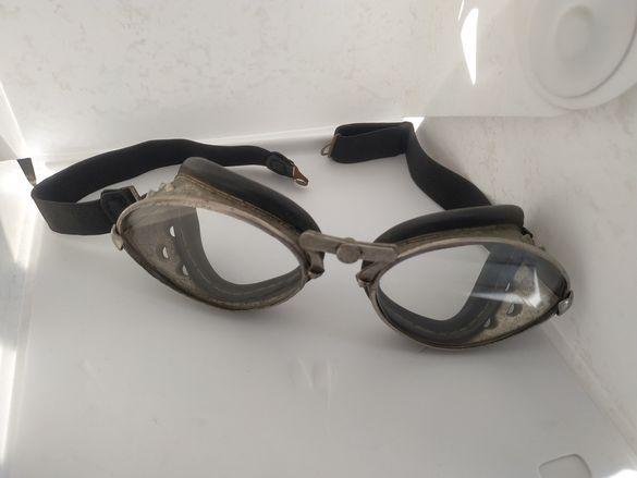 Ретро мото кабрио пилотски очила