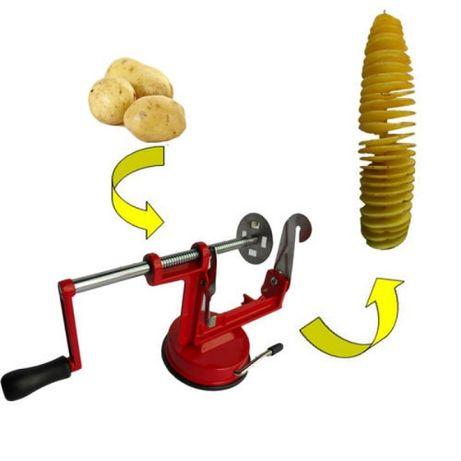 Aparat din inox pentru spiralat cartofii