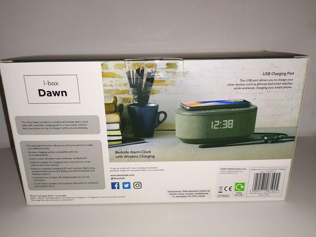 Ceas de noptiera, radio, alarma,Boxa bluetooth,wireless charger QI