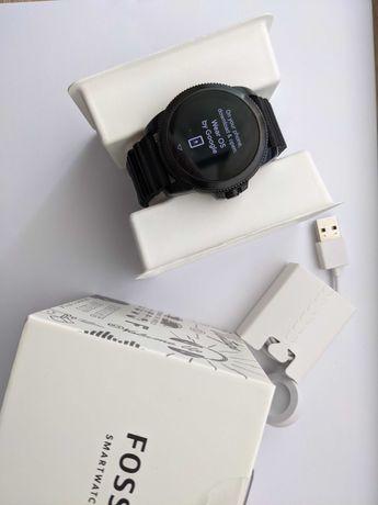 Ceas smartwatch Fossil FTW4047, Silicone, Black