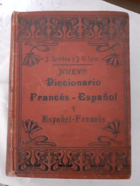 vechi dictionar francez-spaniol din anul 1905 de colectie
