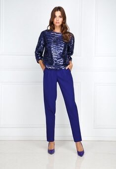 Продам трикотажную блузку с пайетками и брюки из крепа