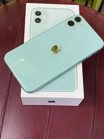 Iphone 11 green 64 gb в идеальном состояний с коробкой полный комплект