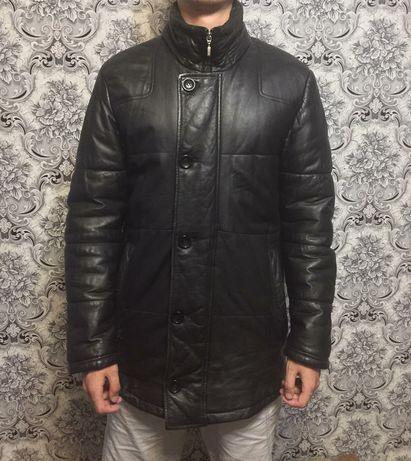 Осень-зима кожаную мужскую куртку