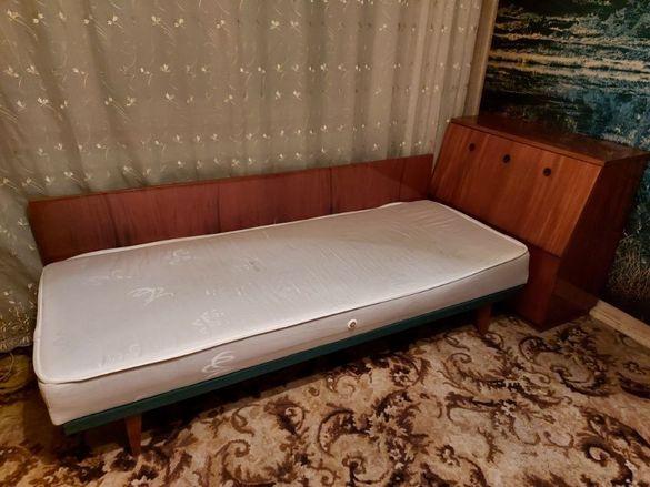 Ъглови легла с ракла и нов матрак 2 бр , спалня комплект легло , скрин