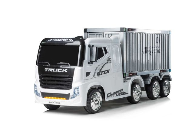 Camion electric cu semiremorca BJJ2011 4x4 140W PREMIUM #Alb